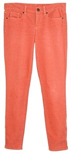 J.Crew Toothpick Corduroy Ankle Stretchy Skinny Pants Orange