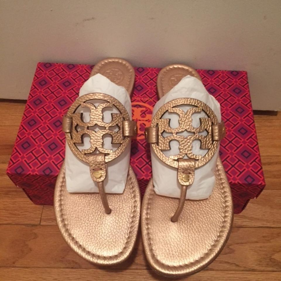 f49be00c7cbe9 Tory Burch Rose Gold Miller Sandals Size US 11 Regular (M
