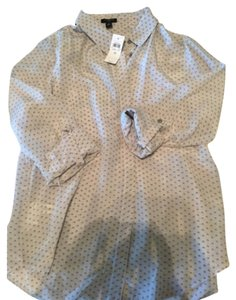 Ann Taylor Button Down Shirt Gray