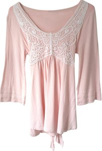 Together Soft Tie Tunic 8 Top Pink
