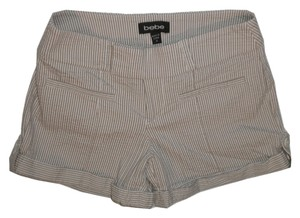 bebe Striped Pinstripe Cuffed Shorts