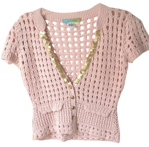 Beth Bowley Crocheted Cotton Sweater