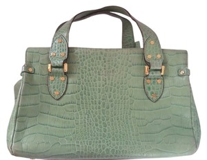 Kate Spade Leather Green Croc Messenger Bag