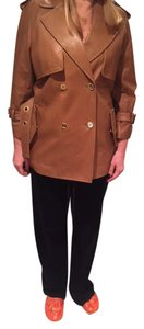 Coach Leather Leather Trench Trench Coat