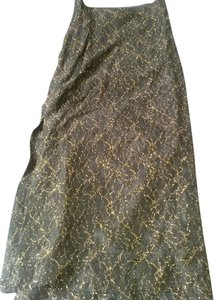 Nicole Miller Maxi Skirt black with golden lace
