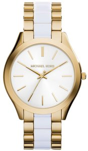 Michael Kors Michael Kors MK4295 Slim Runway White Acetate Gold tone Bracelet Watch