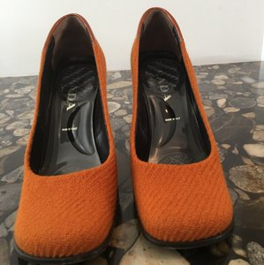 Prada Dark Orange Pumps