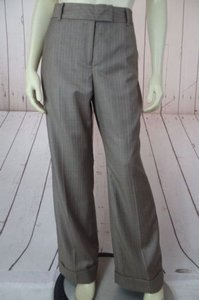 Anne Klein Trouser 8p Thin Poly Rayon Stretch Cuffed Classy Pants