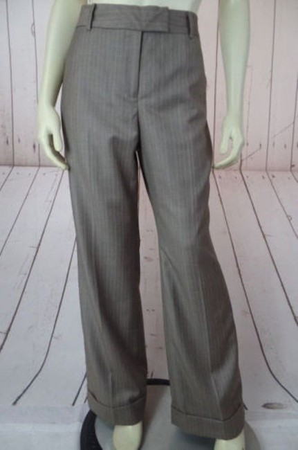 Anne Klein Trouser 8p Thin Poly Rayon Stretch Cuffed Classy Pants Image 0