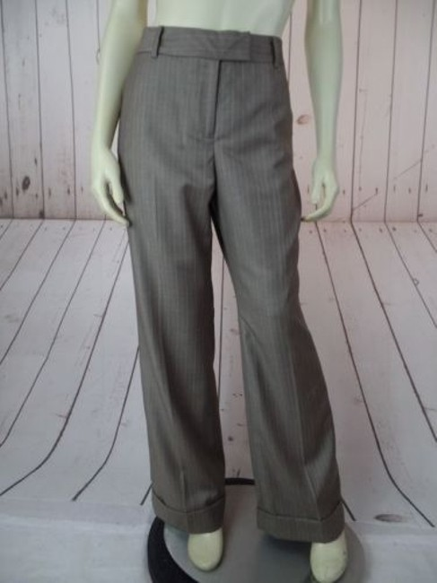 Anne Klein Trouser 8p Thin Poly Rayon Stretch Cuffed Classy Pants Image 1