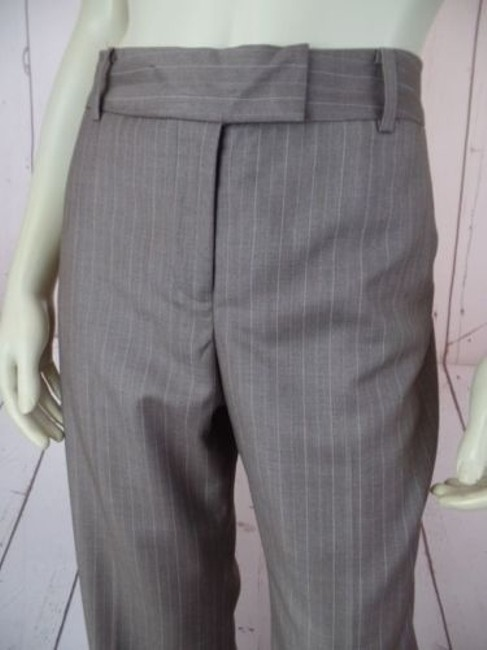 Anne Klein Trouser 8p Thin Poly Rayon Stretch Cuffed Classy Pants Image 2