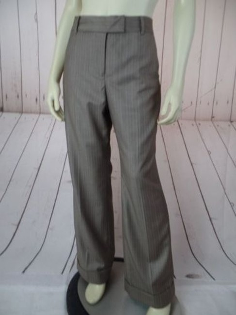 Anne Klein Trouser 8p Thin Poly Rayon Stretch Cuffed Classy Pants Image 3