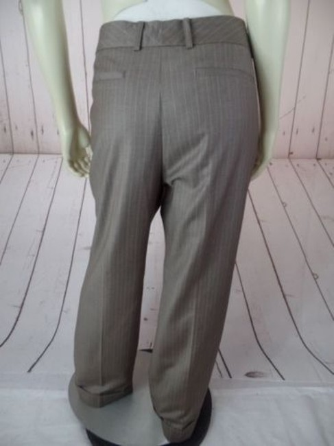 Anne Klein Trouser 8p Thin Poly Rayon Stretch Cuffed Classy Pants Image 7