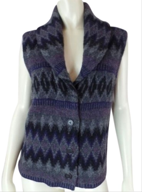 Preload https://img-static.tradesy.com/item/14341201/ralph-lauren-sweater-vest-gray-heather-lambswool-tribal-shawl-collar-knit-chic-0-1-650-650.jpg