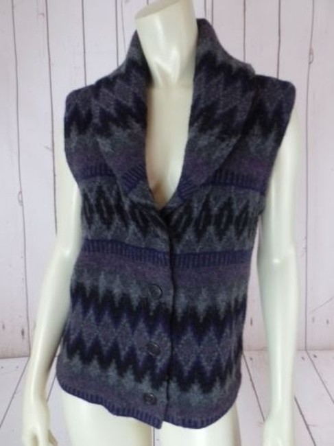 Ralph Lauren Vest Lambswool Tribal Shawl Collar Knit Chic Sweater Image 1