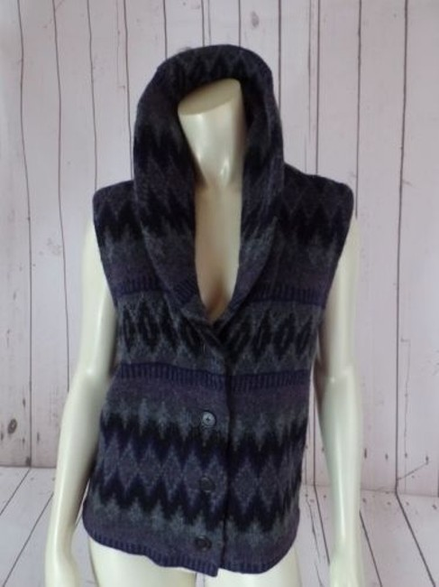 Ralph Lauren Vest Lambswool Tribal Shawl Collar Knit Chic Sweater Image 10
