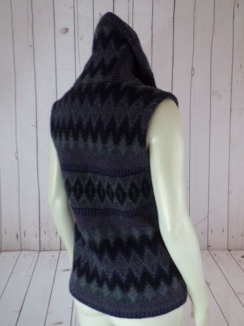 Ralph Lauren Vest Lambswool Tribal Shawl Collar Knit Chic Sweater Image 9