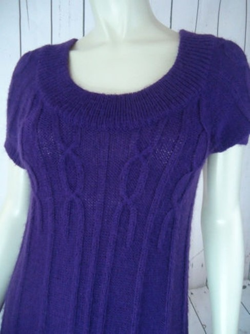 Other Mng Sportswear Fuzzy Mohair Acrylic Blend Trapeze Chic Sweater Image 2