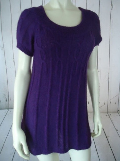 Other Mng Sportswear Fuzzy Mohair Acrylic Blend Trapeze Chic Sweater Image 3
