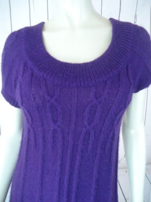 Other Mng Sportswear Fuzzy Mohair Acrylic Blend Trapeze Chic Sweater Image 4