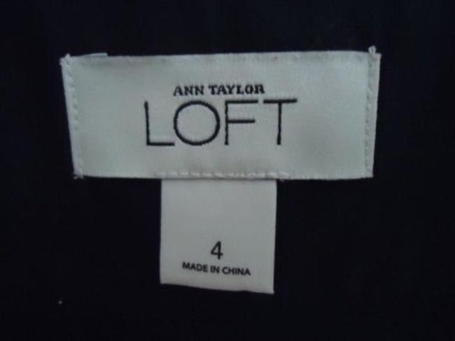 Ann Taylor LOFT Flirty White Floral Embroidery Lined Sweet Skirt Black Image 3