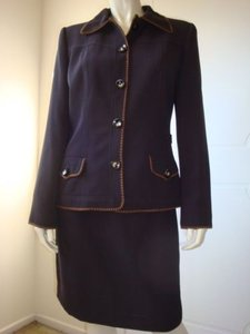 Other Bergamo York Straight Skirt Suit Blazer Lined Contrast Stitch Ally Mcbeal