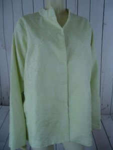 Eileen Fisher Eileen Fisher Woman Blazer 1x Wtag 308 Light Green Crinkle Silk Thin Weight