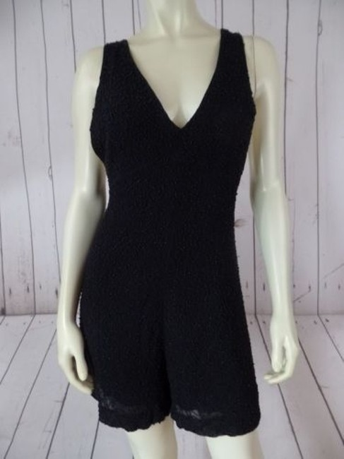 Preload https://img-static.tradesy.com/item/14341297/french-connection-romper-black-beaded-onesie-shorts-outfit-viscose-rayon-sexy-0-0-650-650.jpg