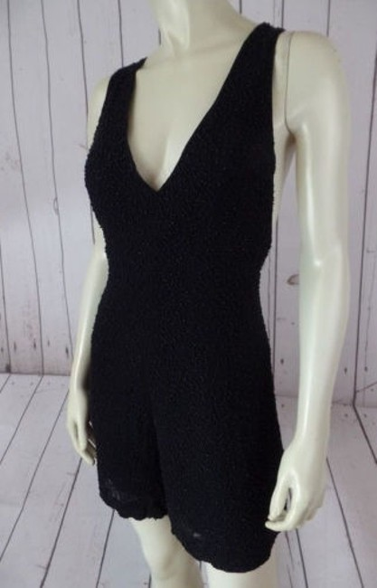 French Connection Beaded Onesie Shorts Outfit Viscose Rayon Sexy Dress Image 2