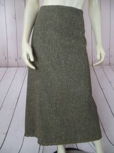 Banana Republic Stretch Wool Nylon Silk Spandex Blend Hot Skirt Taupe Heather