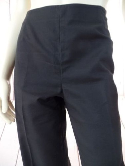 Other Lafayette 148 Ny Shiny Elastane Stretch Crop Unlined Chic Pants Image 1