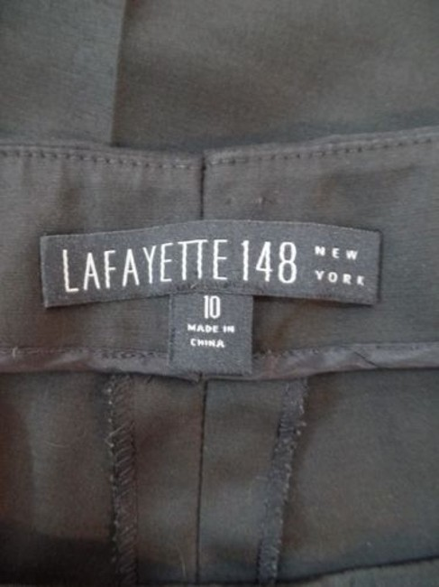 Other Lafayette 148 Ny Shiny Elastane Stretch Crop Unlined Chic Pants Image 11