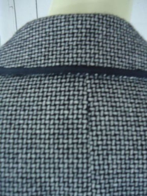 Other Tahari Petite Blazer 6p Black White Tweed Wool Poly Stretch Blend Contrast Edges Image 7