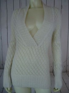 Ann Taylor LOFT Nylon Wool Mohair Sparkle Crocket Boho Sweater