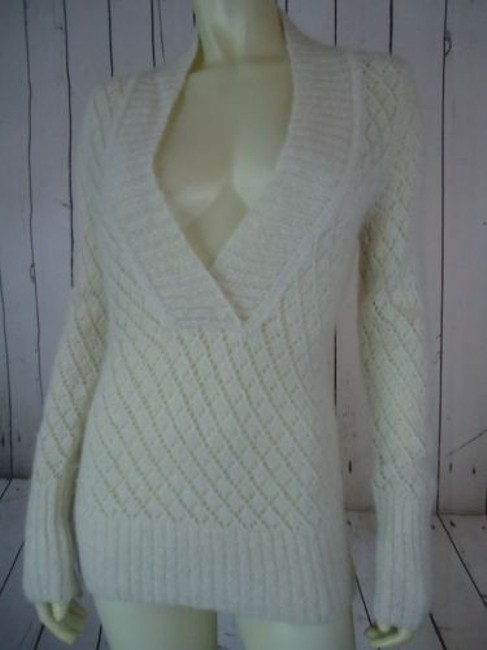 Ann Taylor LOFT Nylon Wool Mohair Sparkle Crocket Boho Sweater Image 1