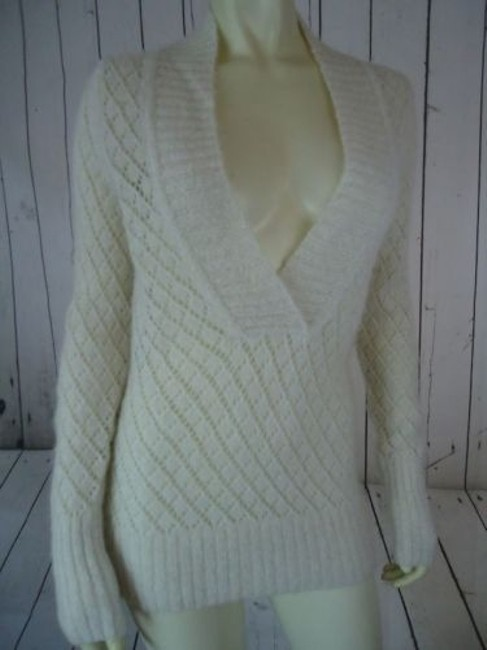 Ann Taylor LOFT Nylon Wool Mohair Sparkle Crocket Boho Sweater Image 3
