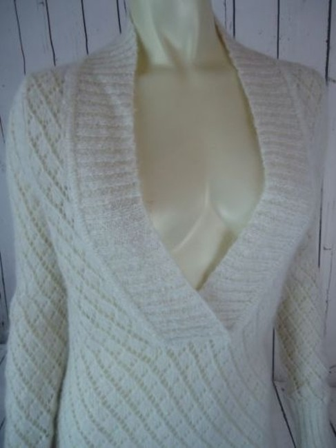 Ann Taylor LOFT Nylon Wool Mohair Sparkle Crocket Boho Sweater Image 4