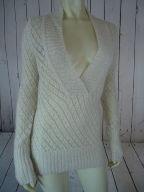 Ann Taylor LOFT Nylon Wool Mohair Sparkle Crocket Boho Sweater Image 5