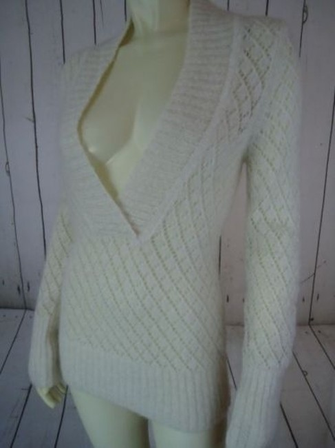Ann Taylor LOFT Nylon Wool Mohair Sparkle Crocket Boho Sweater Image 6