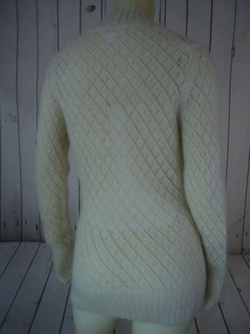 Ann Taylor LOFT Nylon Wool Mohair Sparkle Crocket Boho Sweater Image 7
