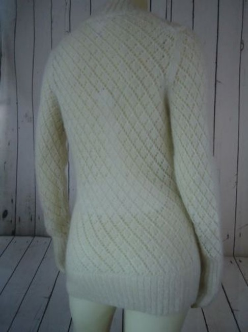 Ann Taylor LOFT Nylon Wool Mohair Sparkle Crocket Boho Sweater Image 8