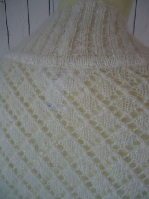 Ann Taylor LOFT Nylon Wool Mohair Sparkle Crocket Boho Sweater Image 9