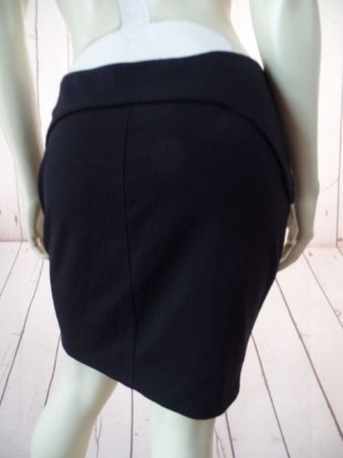 T by Alexander Wang Knit Poly Rayon Spandex Stretch Mini Zipper Sexy Skirt Black Image 8