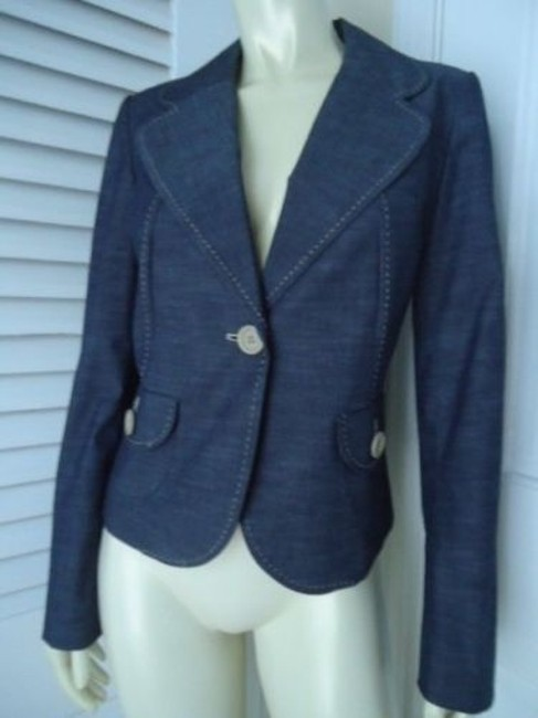 Preload https://img-static.tradesy.com/item/14341528/ann-taylor-loft-blazer-stretch-cotton-blend-fine-blue-jean-contrast-stitch-0-0-650-650.jpg