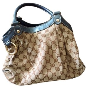 Gucci Pre-owned Tote Handbags Canvas Lightly Used Hobo Bag