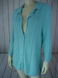 Heather B B Cotton Button Front Cardigan Sweater