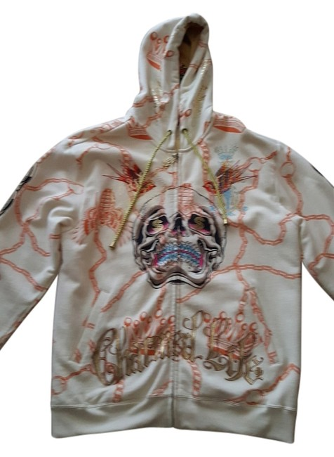 Preload https://img-static.tradesy.com/item/14341699/christian-audigier-beige-hoodie-activewear-size-16-xl-plus-0x-0-1-650-650.jpg