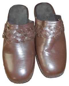 Easy Street New Without Tags Leather No Shoebox Braided Comfort Wave Brown Mules
