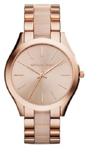 Michael Kors Michael Kors MK4294 Women's Slim Runway Blush Acetate & Rose Gold tone Bracelet Watch NEW! $225