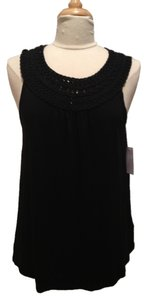 Michael by Michael Kors Braided Top Black